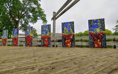 "2019 Lansing ARTpath installation ""CLASH"""